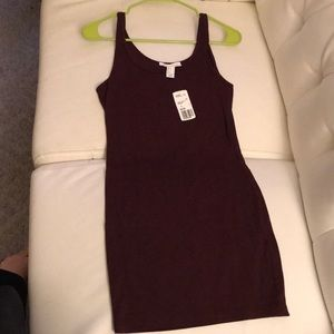 Brand New forever21 body con maroon dress